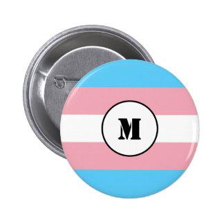 Custom transgender flag button pinback buttons