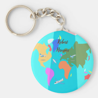 Custom Travel Map Key Ring