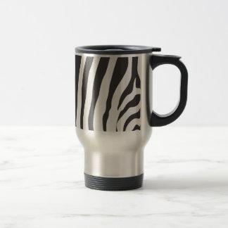 Custom Travel Mug : Zebra Stripe Print Pattern