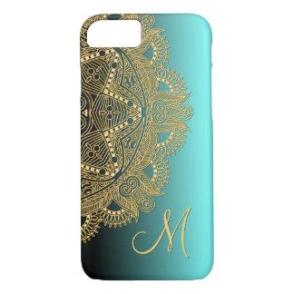 Custom Trendy Faux Shiny Gold Mandala Pattern iPhone 8/7 Case