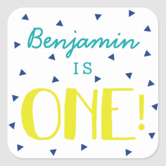Custom Triangle Confetti 1st Birthday Stickers