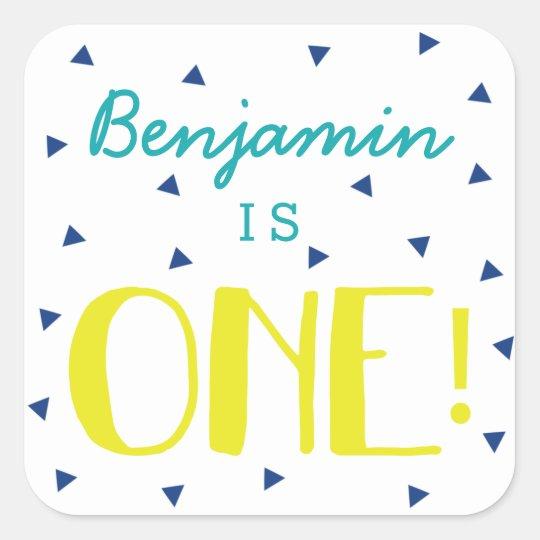 Custom Triangle Confetti 1st Birthday Stickers