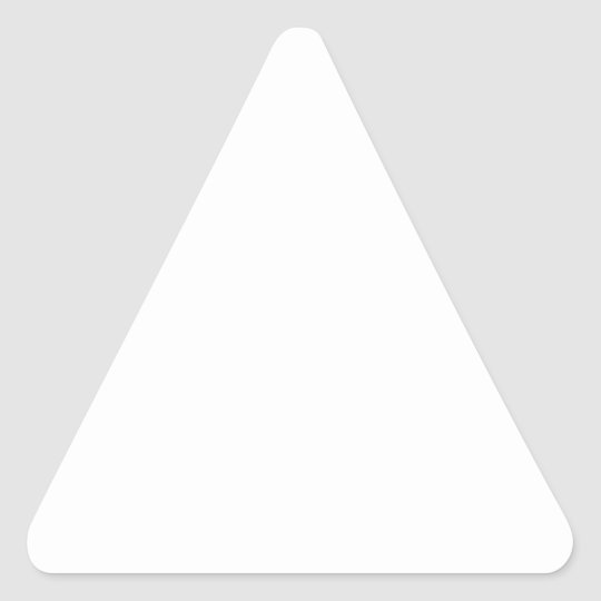 Triangle Stickers, Glossy