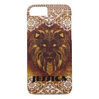 Custom Tribal Designs Lion Lace Trim Case