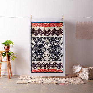 Custom Tribal Folk Decorator Fabric