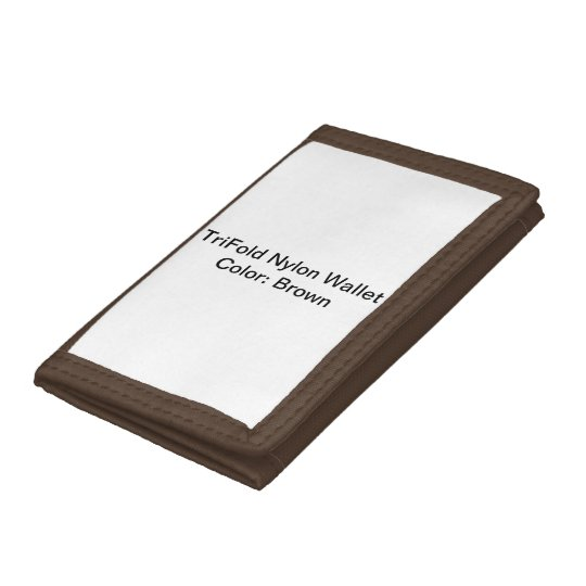 Brown TriFold Nylon Wallet