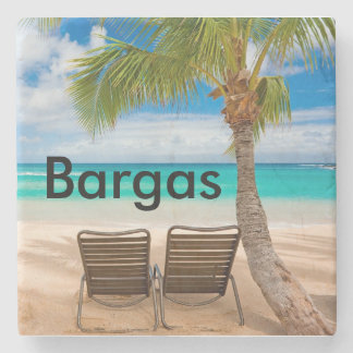Custom Tropical Beach Coaster Customized