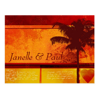 Custom Tropical Palm Tree Cards Postcard