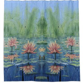 Custom Tropical Peach Lilies  Shower Curtain
