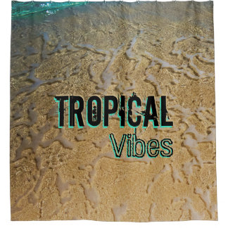 Custom Tropical Vibes Shower Curtain