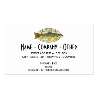 Custom Trout Fishing Pack Of Standard Business Cards