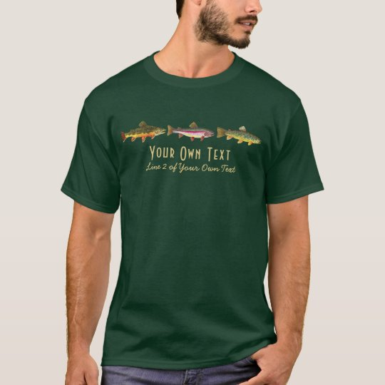 Custom Trout Fly Fishing Angling Fisherman T-Shirt