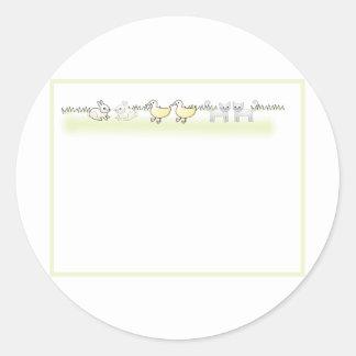 Custom Twin Animals Baby Shower Invitation Stickers