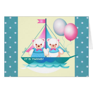 Custom Twins Birth Announcement Cards