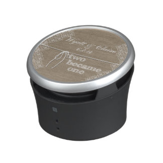Custom Two Became One Wedding Bluetooth Speaker