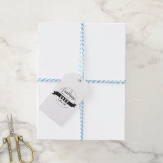 Custom Typography Graduate Seal Gift Tags