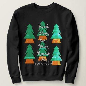 Custom Unisex Funny Holiday Pun Writers Sweatshirt