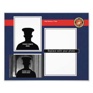 Custom USMC Photo Collage