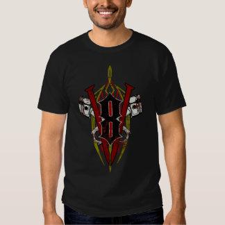 Custom V8 Pinstripe Design Distressed T Shirt