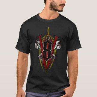 Custom V8 Pinstripe Design Distressed T-Shirt