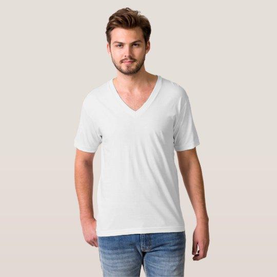 Men's American Apparel Fine Jersey V-neck T-Shirt, White