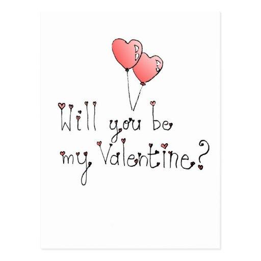 Custom Valentine Postcard with Poem