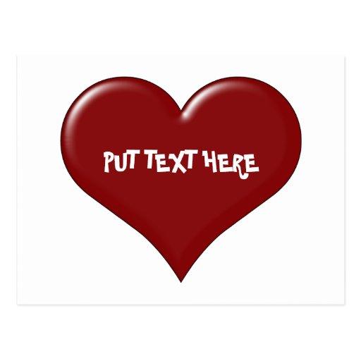 Custom Valentine's Day Heart Postcard