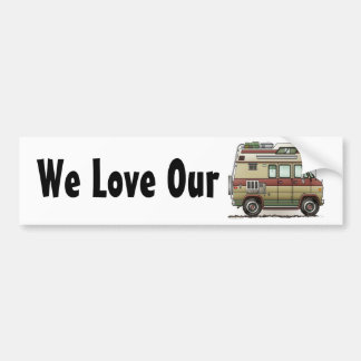 Custom Van Camper RV Bumper Sticker