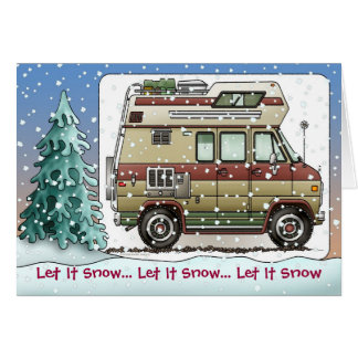 Custom Van Camper RV Holiday Cards