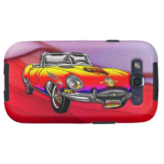 Custom Vintage 1966 Jaguar E-Type Roadster Galaxy SIII Case