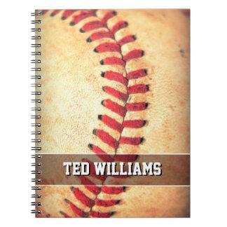 Custom vintage baseball ball notebooks