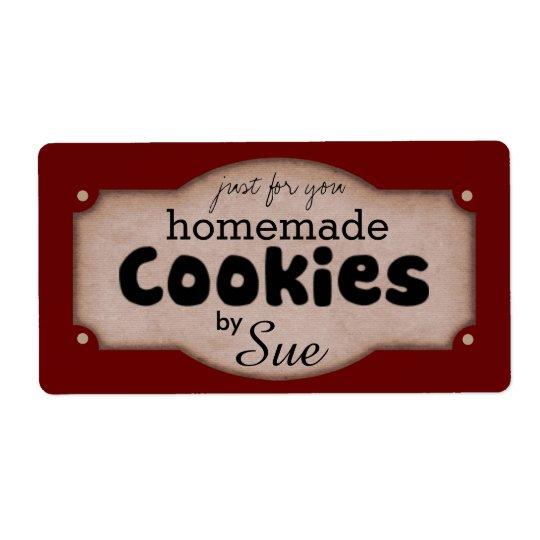 Custom Vintage Cookie Giving Labels