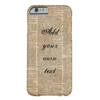 Custom Vintage Dictionary Art iPhone 6/6s Barely There iPhone 6 Case