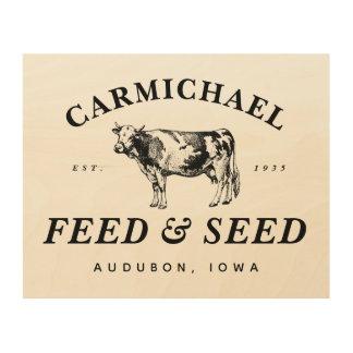 Custom Vintage Farmhouse Style Feed & Seed Sign