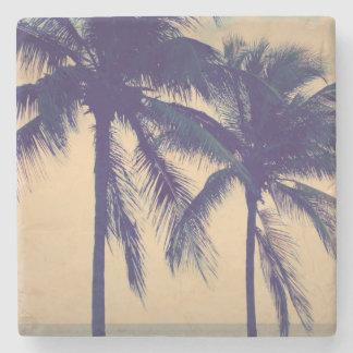 Custom vintage palm beach ocean photo print gift stone beverage coaster