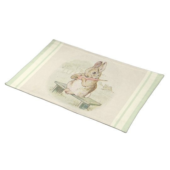 CUSTOM VINTAGE RABBIT PLACEMATS - CUTE BUNNY