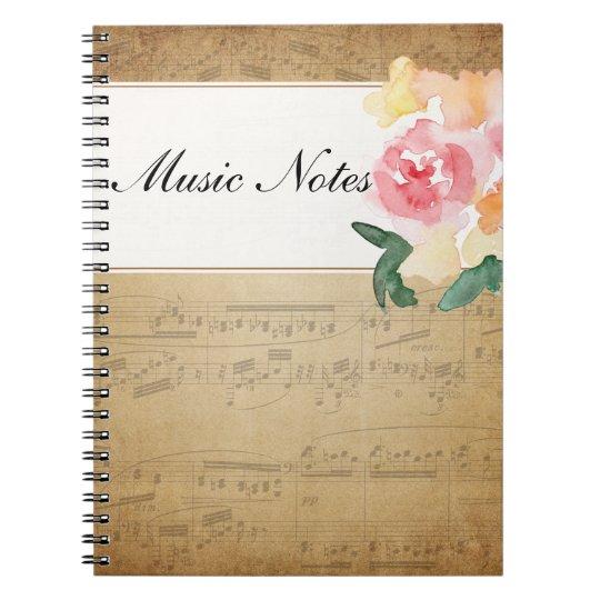 Custom Vintage Sheet Music Notebook