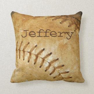 Custom vintage White Baseball white stitching Cushion