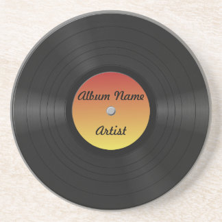 Custom Vinyl Record Coaster