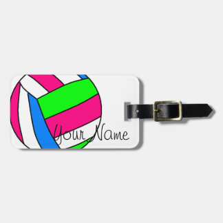 Custom Volleyball Luggage Tag