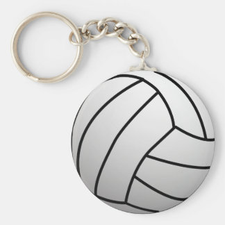 Custom VolleyBall Sports Product Basic Round Button Key Ring