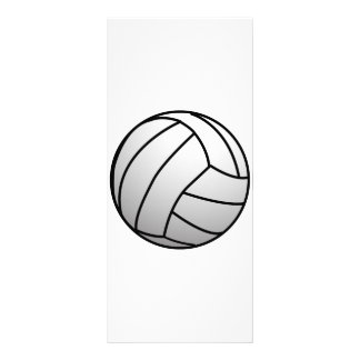 Custom VolleyBall Sports Product Rack Card Design