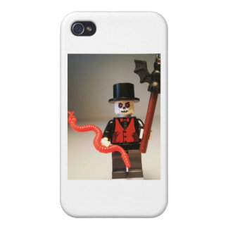 Custom Voodoo Priest Zombie Minifig Cover For iPhone 4