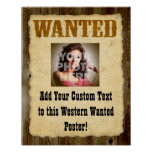 Custom Wanted Poster Old-Time Photo Posters