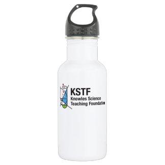 Custom Water Bottle (18 oz), White - KSTF