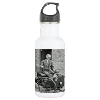 Custom water bottle with vintage image