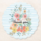 custom,watercolor colourful  flowers paper coaster