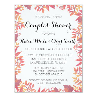 Custom Watercolor Fall Invitation