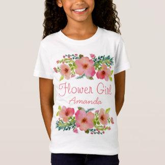 Custom watercolor floral T-Shirt