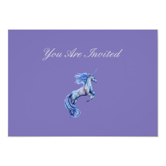 Custom Watercolor Unicorn Invitation